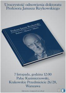 odnowienie-doktoratu-profesora-janusza-reykowskiego_plakat