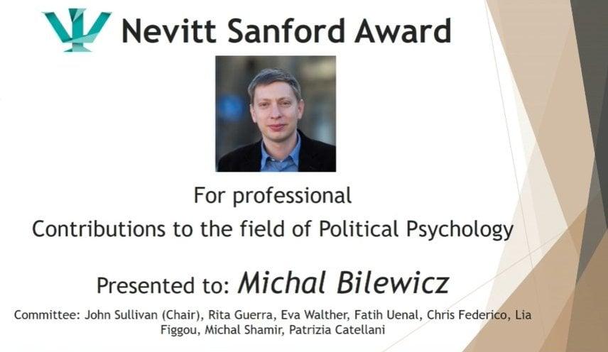 Nevitt Sanford Award Michał Bilewicz
